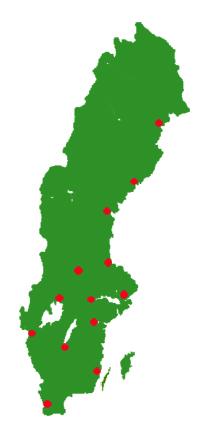 Karta Sverige Borlange.Bilglas