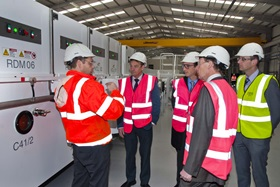 Chris Davies MEP visits new off-line coater