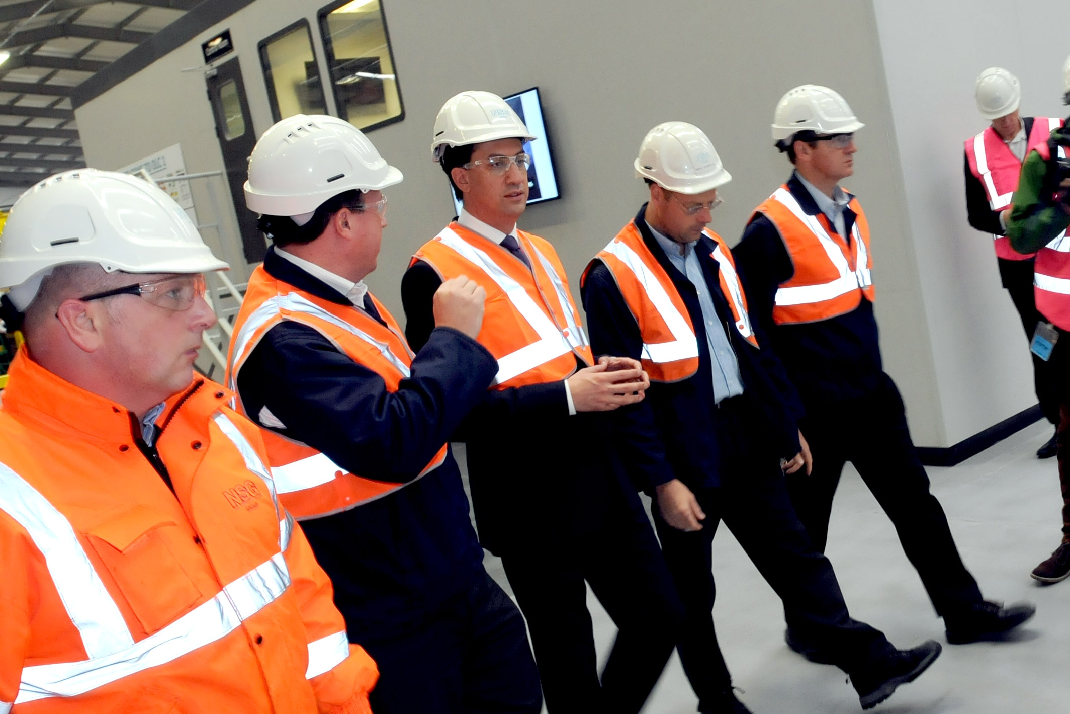 Ed Miliband takes a tour of Cowley Hill Coater