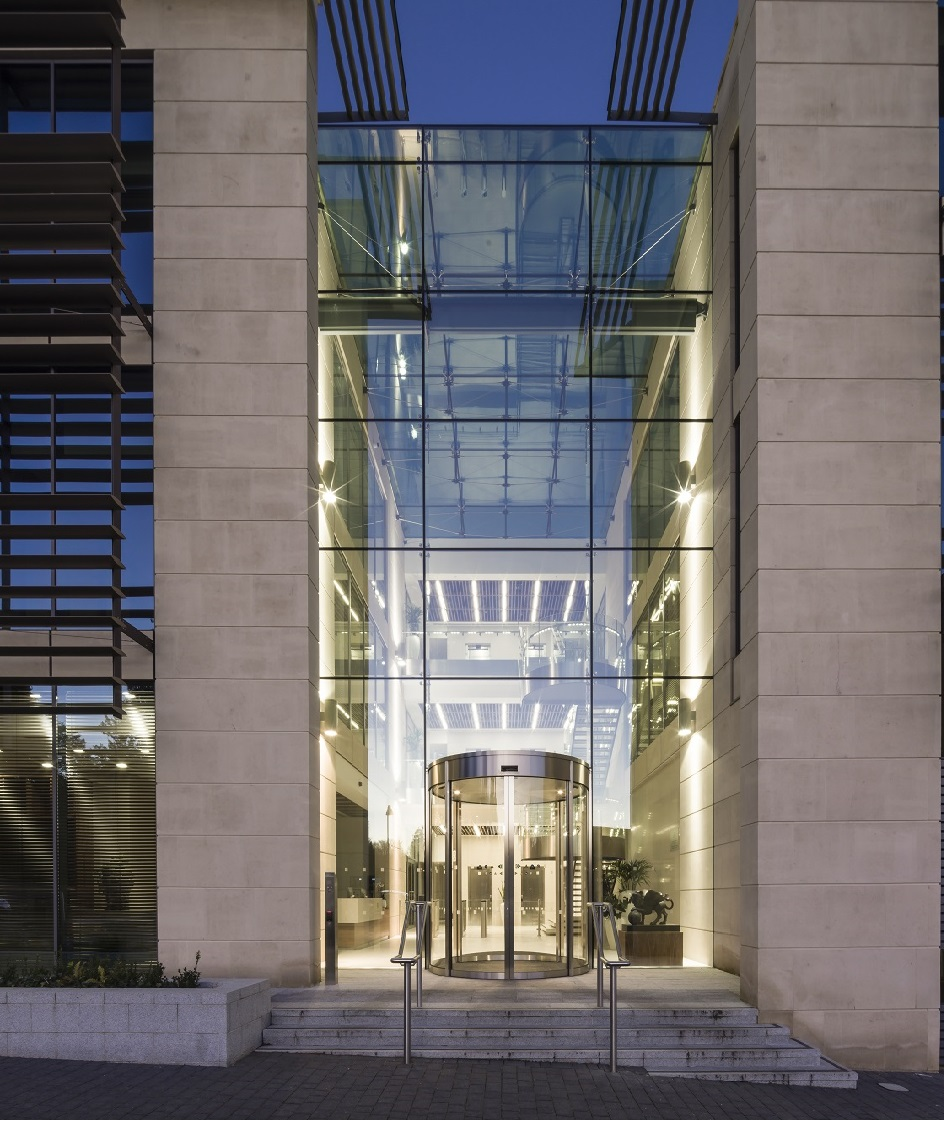 Stunning Structurally Glazed Atrium Provides Focal Point